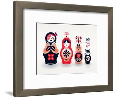 Pink and Navy Russian Dolls