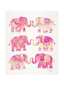 Pink Elephants by Cat Coquillette