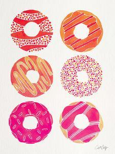 Pink Peach Donuts by Cat Coquillette