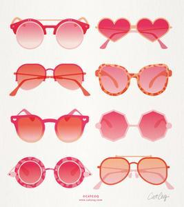 Pink Sunglasses by Cat Coquillette