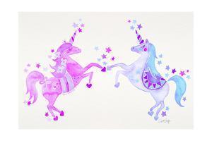 Purple Unicorns by Cat Coquillette