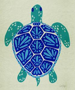 Sea Turtle in Blue– Cat Coquillette by Cat Coquillette