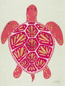 Sea Turtle in Pink and Gold by Cat Coquillette