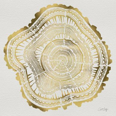 Tree Rings in Gold