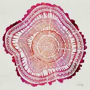 Tree Rings in Pink by Cat Coquillette