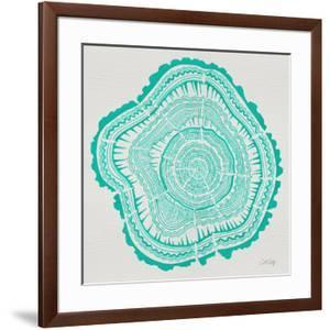 Tree Rings in Turquoise by Cat Coquillette