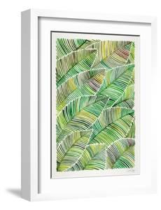 Tropical Leaves in Greens by Cat Coquillette