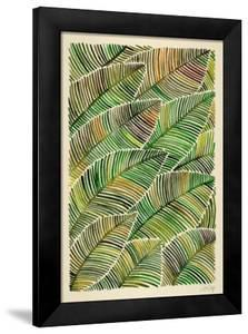 Tropical Leaves in Yellow and Green by Cat Coquillette