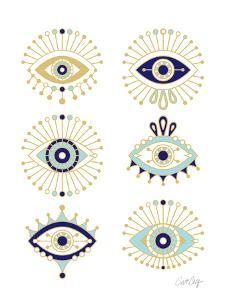 White Evil Eyes by Cat Coquillette