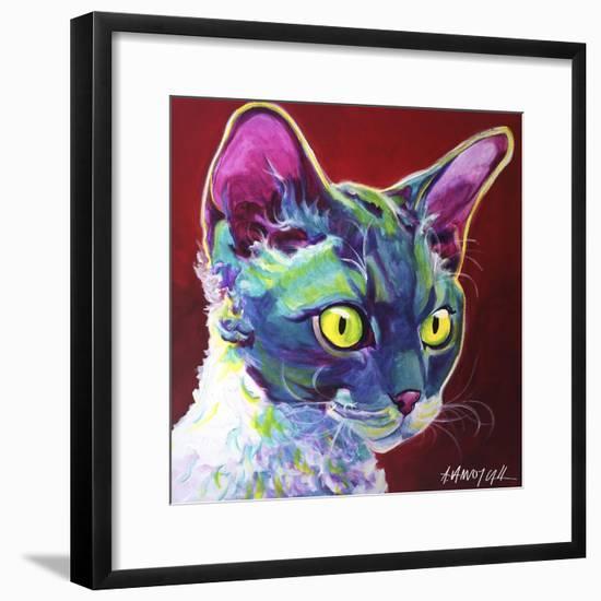 Cat - Devon Rex-Dawgart-Framed Giclee Print
