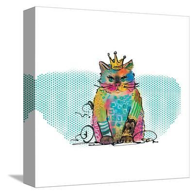 Cat Diva-Lucy Cloud-Stretched Canvas Print