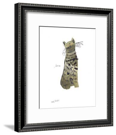 """Cat From """"25 Cats Named Sam and One Blue Pussy"""", c. 1954 (Green Sam)-Andy Warhol-Framed Art Print"""