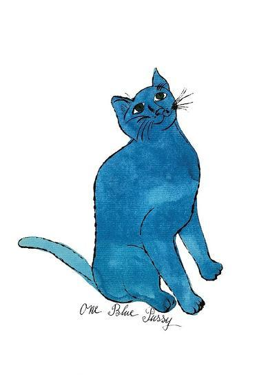 "Cat From ""25 Cats Named Sam and One Blue Pussy"", c. 1954 (One Blue Pussy)-Andy Warhol-Art Print"