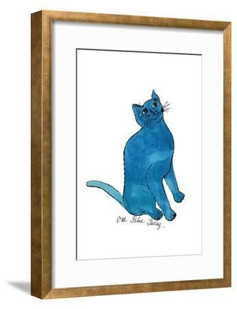 """Cat From """"25 Cats Named Sam and One Blue Pussy"""", c. 1954 (One Blue Pussy)-Andy Warhol-Framed Art Print"""