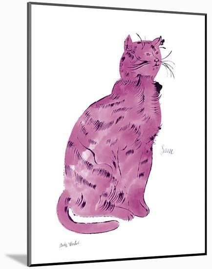 """Cat From """"25 Cats Named Sam and One Blue Pussy"""", c.1954 (Pink Sam)-Andy Warhol-Mounted Art Print"""