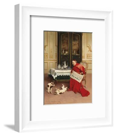 Cat Games-Georges Croegaert-Framed Premium Giclee Print