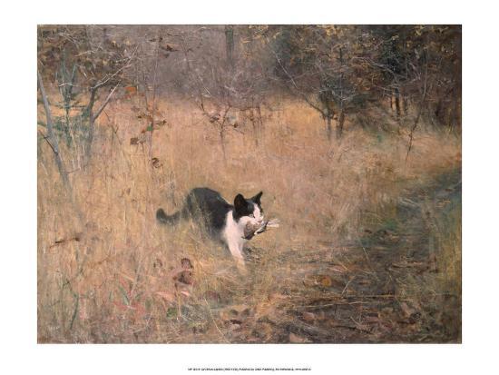 Cat Hunting, 1883-Bruno Liljefors-Art Print