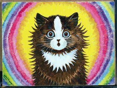 Cat in a Rainbow-Louis Wain-Giclee Print