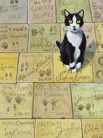 Cat in Hollywood (Chat a Hollywood)-Isy Ochoa-Giclee Print