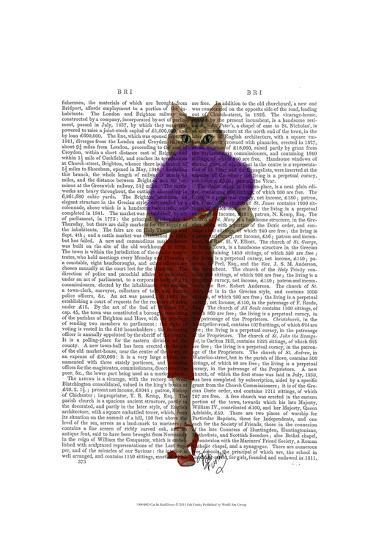 Cat In Red Dress-Fab Funky-Art Print