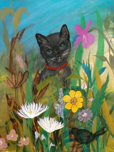 Cat in the Garden-Robin Maria-Art Print