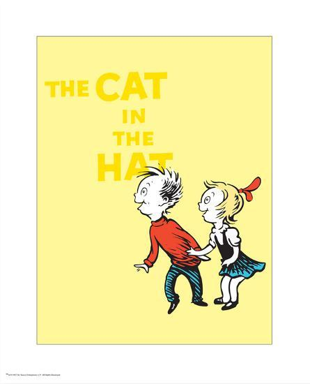 Cat in the Hat Yellow Collection III - Sally & Her Brother (yellow)-Theodor (Dr. Seuss) Geisel-Art Print