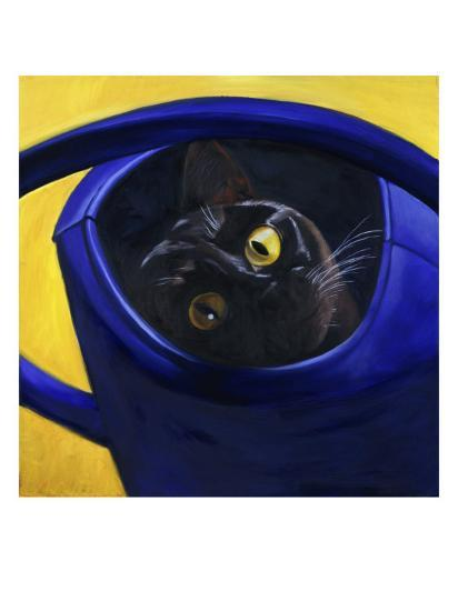 Cat in the Watering Can (Chat a L'Arrosoir)-Isy Ochoa-Giclee Print