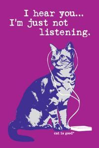 I Hear You Just Not Listening by Cat is Good