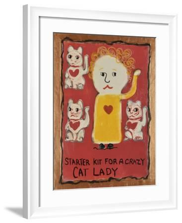 Cat Lady-Jennie Cooley-Framed Giclee Print