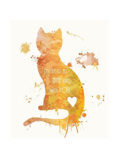 Cat Love-Anna Quach-Art Print