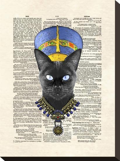 Cat Nefertiti-Matt Dinniman-Stretched Canvas Print