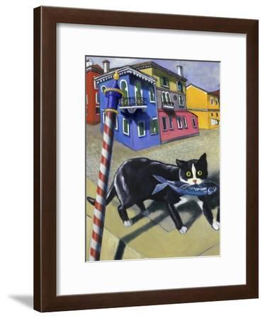 Cat of Burano (Chat de Burano)-Isy Ochoa-Framed Giclee Print