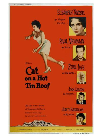Cat on a Hot Tin Roof, 1958--Art Print