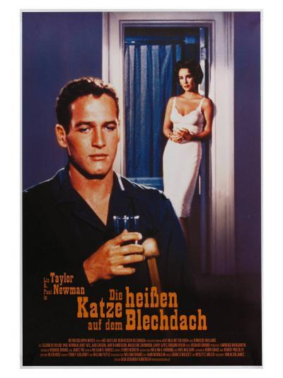 Cat on a Hot Tin Roof, German Movie Poster, 1958--Art Print
