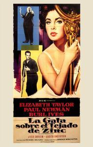 Cat on a Hot Tin Roof, Spanish Movie Poster, 1958