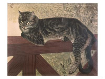 Cat on Balustrade-Th?ophile Alexandre Steinlen-Giclee Print