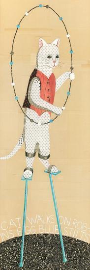 Cat on Stilts-Judy Verhoeven-Art Print