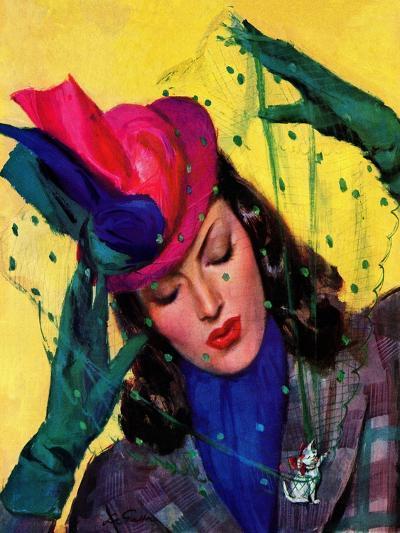 """Cat Pin,"" October 11, 1941-John LaGatta-Giclee Print"