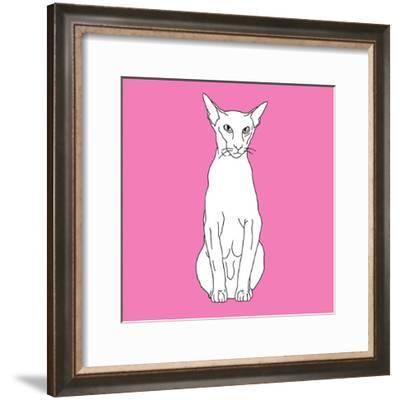 Cat Pointy Ears-Anna Nyberg-Framed Art Print