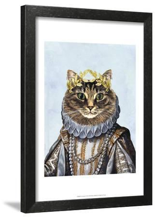 Cat Queen-Fab Funky-Framed Art Print