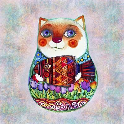 Cat Russian-Oxana Zaika-Giclee Print