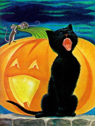 Cat's Meow - Child Life-Dorothy Forsyth-Giclee Print