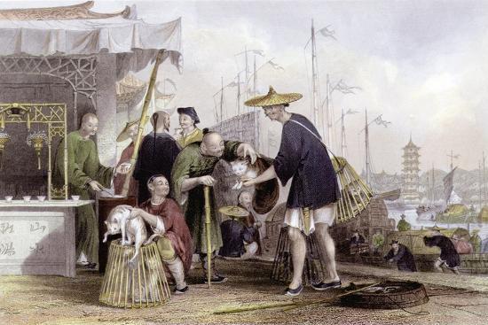 Cat Tea Merchants-Thomas Allom-Art Print