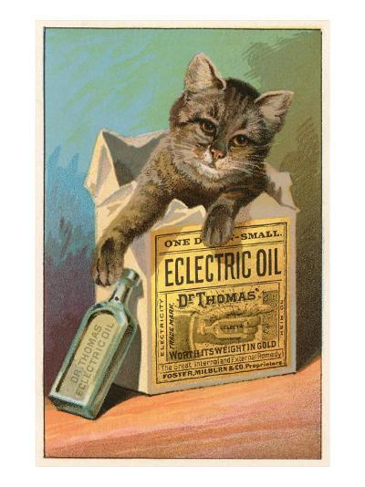 Cat with Eclectric Oil--Art Print