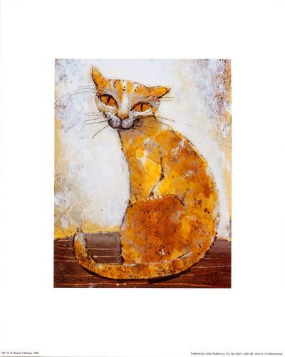Cat-Silvana Crefcoeur-Art Print