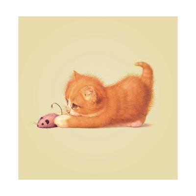 Cat-John Butler Art-Giclee Print