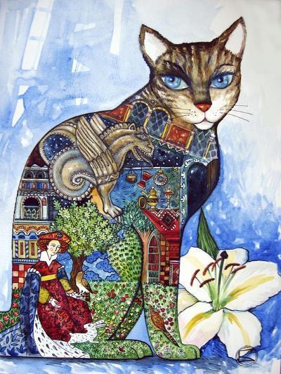Cat-Oxana Zaika-Giclee Print