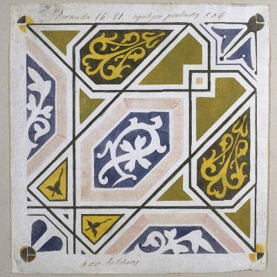 Catalan Modernism. Original Desing of Tile for the Decoration of the Guell Palace. Artist Antoni?--Giclee Print