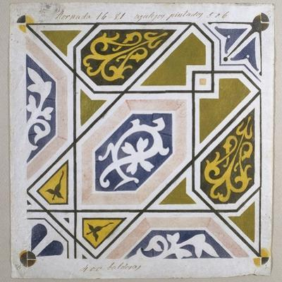 Catalan Modernism. Original Desing of Tile for the Decoration of the Guell Palace. Artist Antoni…