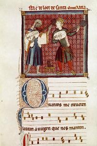 Two musicians by Catalan School